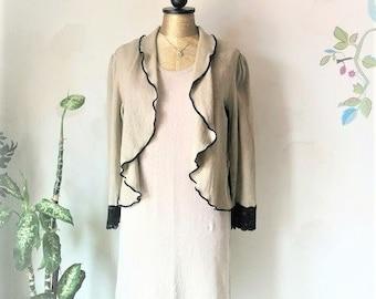 Light Hemp Jacket - Hemp Shrug. Organic clothing.  Size Small.  Ready to Ship