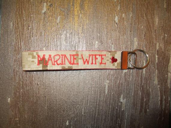 Military Tape KeychainFob Name Wife Marines Key ChainUs WristletMarine Corps y7I6vgYbmf