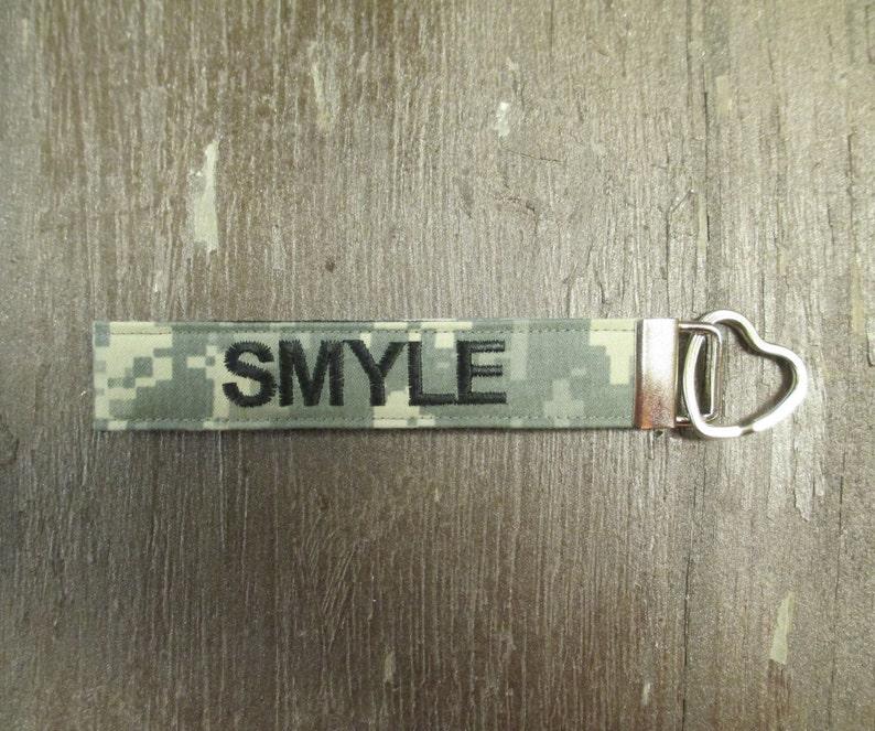 Military Wristlet, Army Custom Name Tape Key Chain, Army Personalized  Military Keychain, Army Key Fob