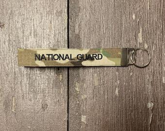 National Guard Key Chain, National Guard Wristlet, National Guard Key Fob