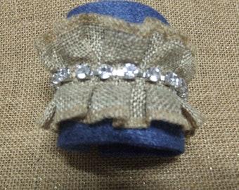 Denim  and Lace decorated Cuff Braclete