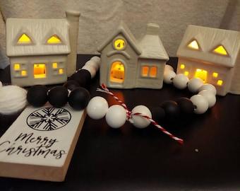 Mini Ceramic Lighted Houses
