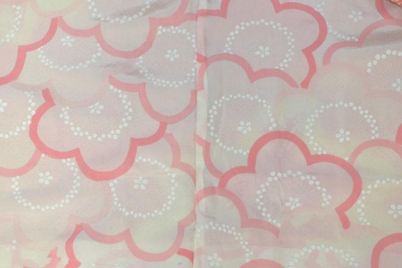 Japanese Thread-Resist Tie Dye Shibori Dyed in Gradations Rinzu Silk Satin Haori Vintage Kimono Jacket Larger Bamboo /& Other Leaves