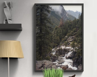 Mountain Photography Nature Decor Yosemite National Park Mountain Decor Forest Art Forest PrintMystical Forest California Photography