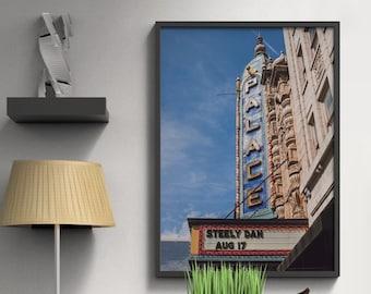 Palace Theater Louisville Kentucky Art Print, Retro Sign Print, Louisville Gift, Retro Home Decor, Theatre Photograph, Steely Dan Concert
