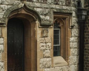 England Print, Medieval Door Photography, Rochester, British Decor, United Kingdom Art, Architecture, Kent England, Castles
