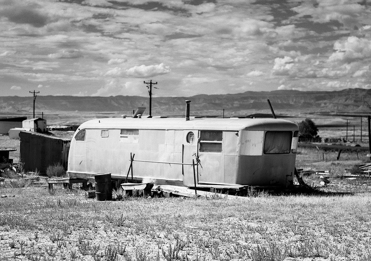 Abandoned Chevy Monument Valley Utah Rustic Wall Decor Bluff Utah Black /& White Photograph Twin Rocks Trading Post