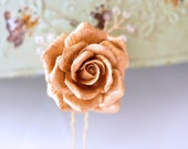 Bridal Gold Rose Hair Pin...