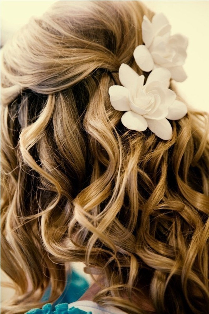 Ready to Ship The Original Gardenia Hair Flower for Weddings image 0