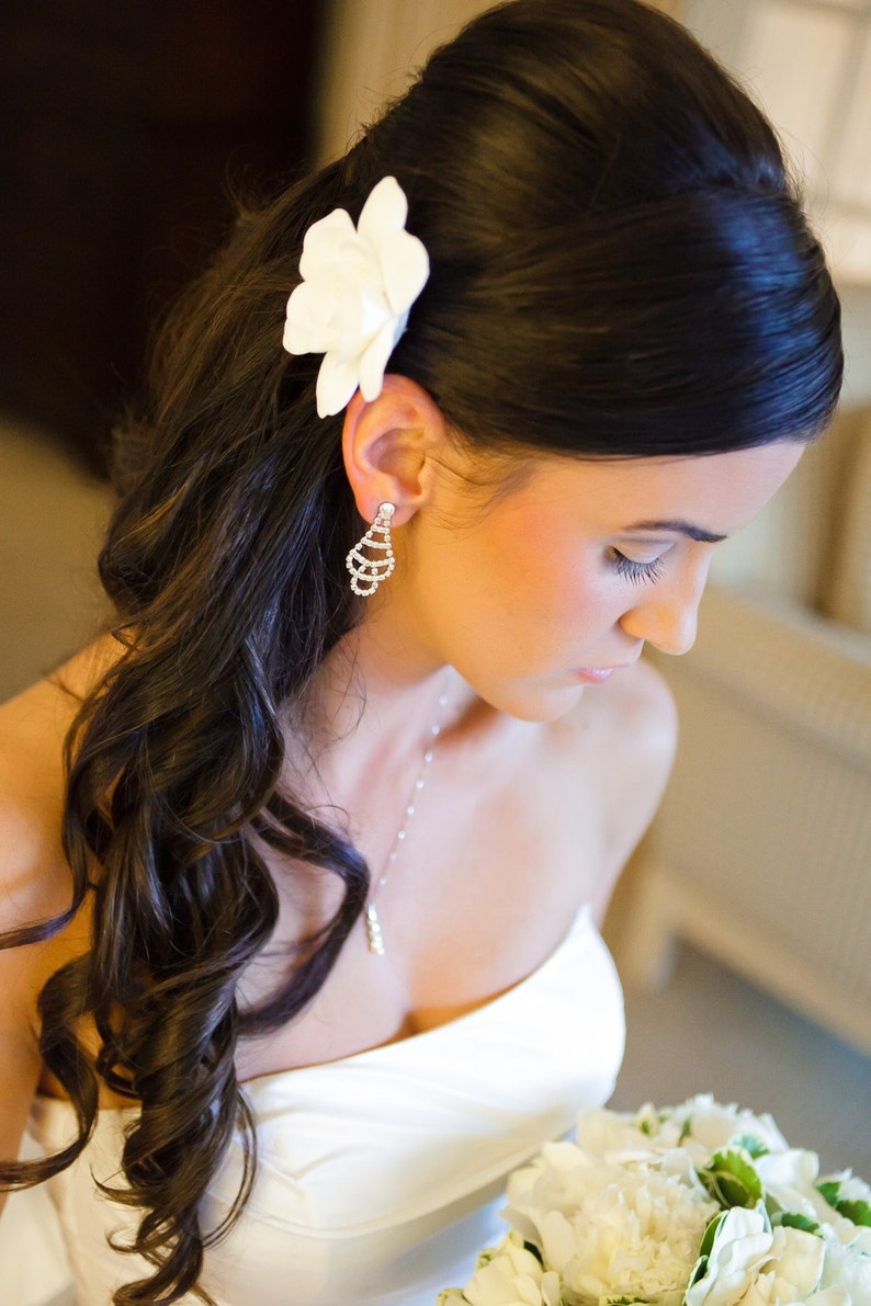 Ready to Ship  The Original Gardenia Hair Flower for Weddings image 0