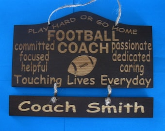 Personalized Wooden Coach Wall Hanging