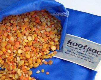 Reusable bulk bin bag - Size MEDIUM - BLUE - Ripstop nylon, lightweight, durable - Zerowaste shopping - grains, nuts, seeds, snacks, produce
