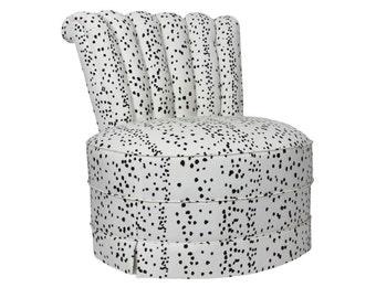 Dalmatian Slipper Chairs (Pair)