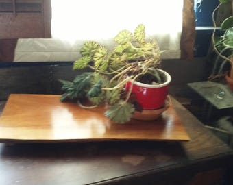 Solid Walnut Footed Tray