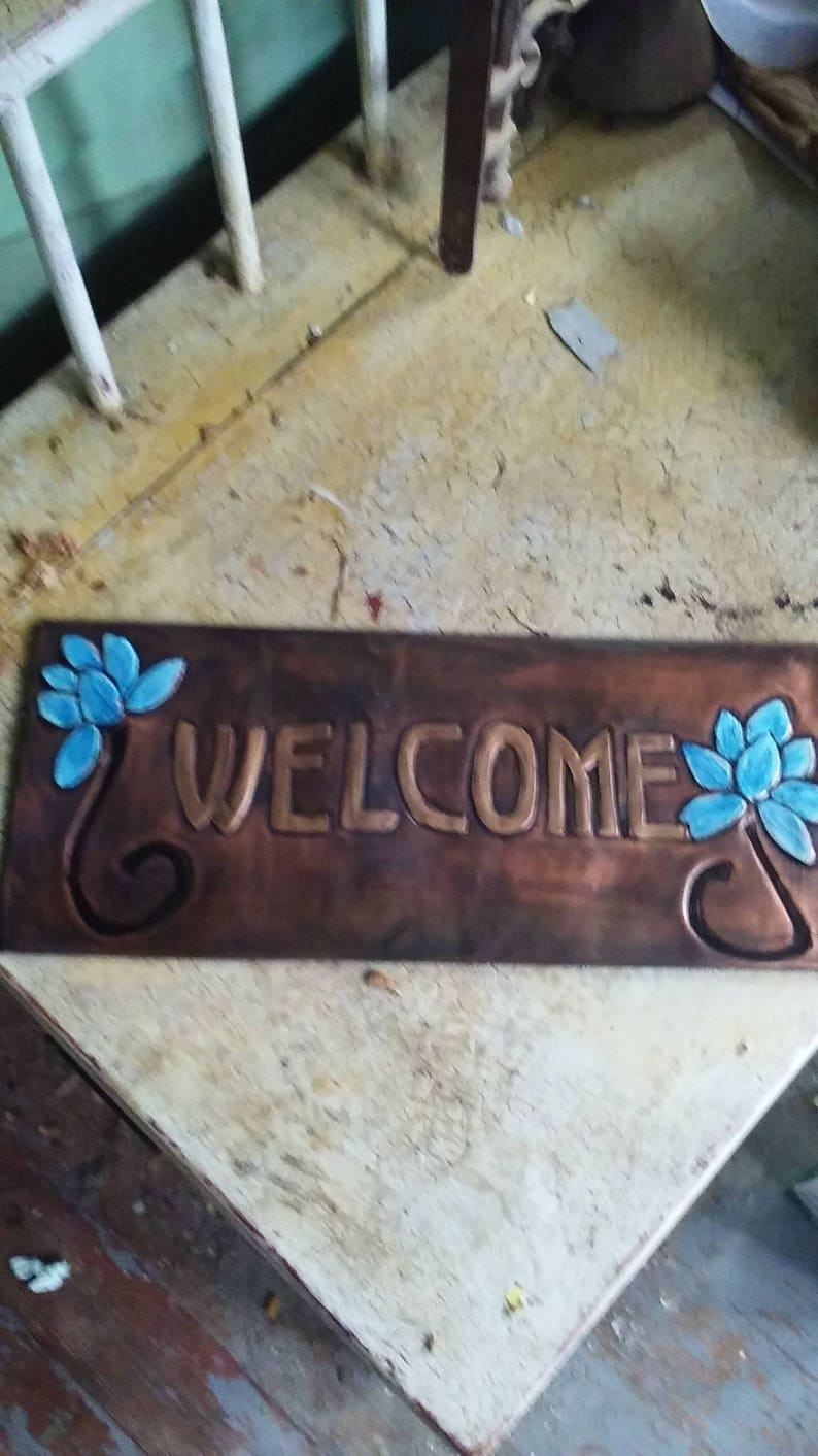 Lotus Flower Welcome Plaque Etsy