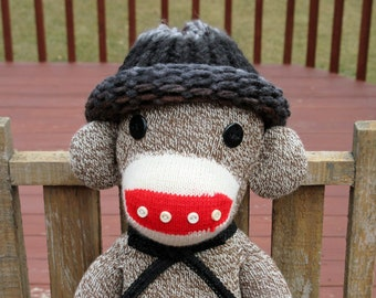 Sock Monkey - Rockford Red Heel Sock Monkey - Original One of a Kind made in Rockford, Ilinois