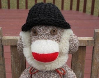 Rockford Red Heel Sock Monkey - Original One of a Kind - Honest Abe - Handmade in Rockford, Illinois - Large Red Heel Sock Monkey