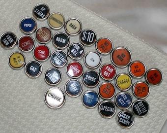 Cash Register Keys, like typewriter keys, supplies,craft,