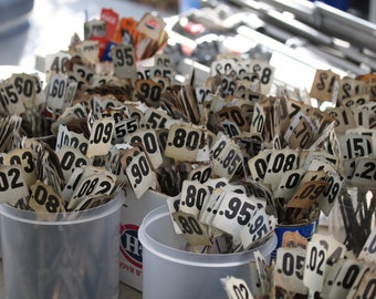 Cash Register Flags, Planter Stake, Vintage, International, Wedding Table Numbers, vintage numbers, Register, Farm house decor, Metal.