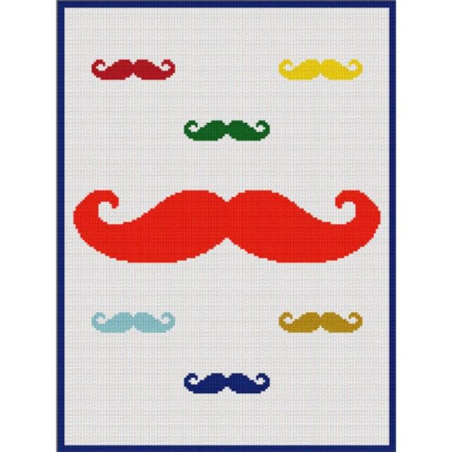 Instant Download Mustache With Mini Mustaches Crochet Scraps Etsy
