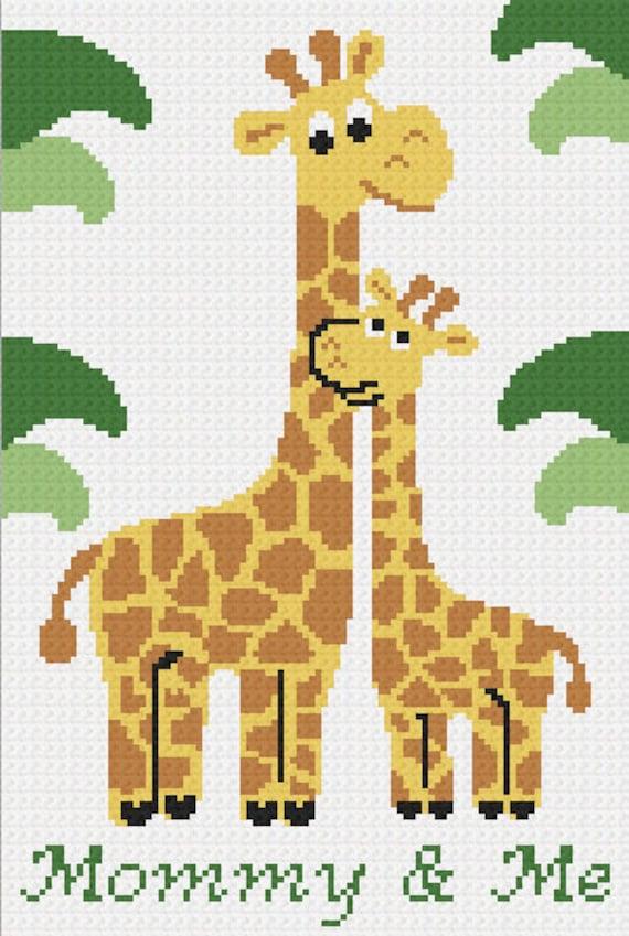 GIRAFFE Safari Graph Chart Baby Afghan Pattern Crochet Patterns