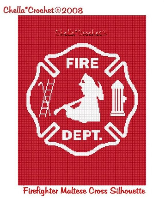 INSTANT DOWNLOAD Chella Crochet Fire Truck 100st Firefighter White Afghan c2c mini c2c hdc knitting Crochet Pattern Graph