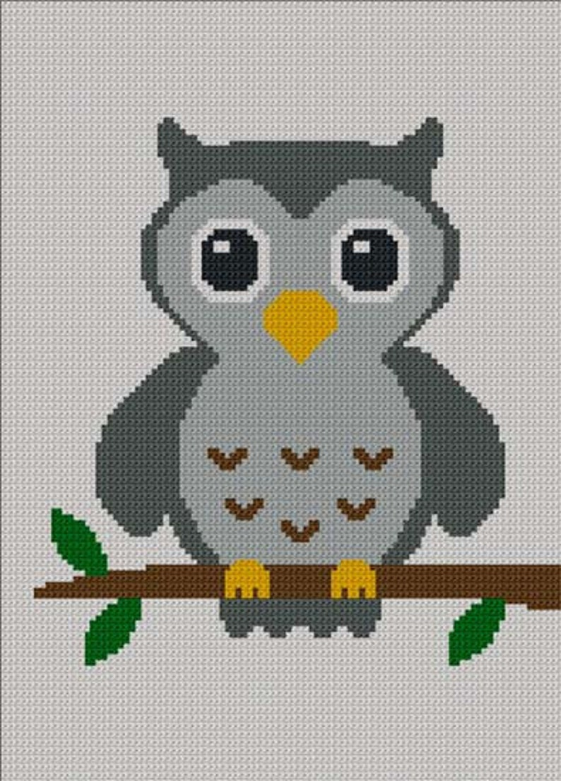 932cfbc6b INSTANT DOWNLOAD Easy Too Cute Gray Baby Owl Crochet Knit