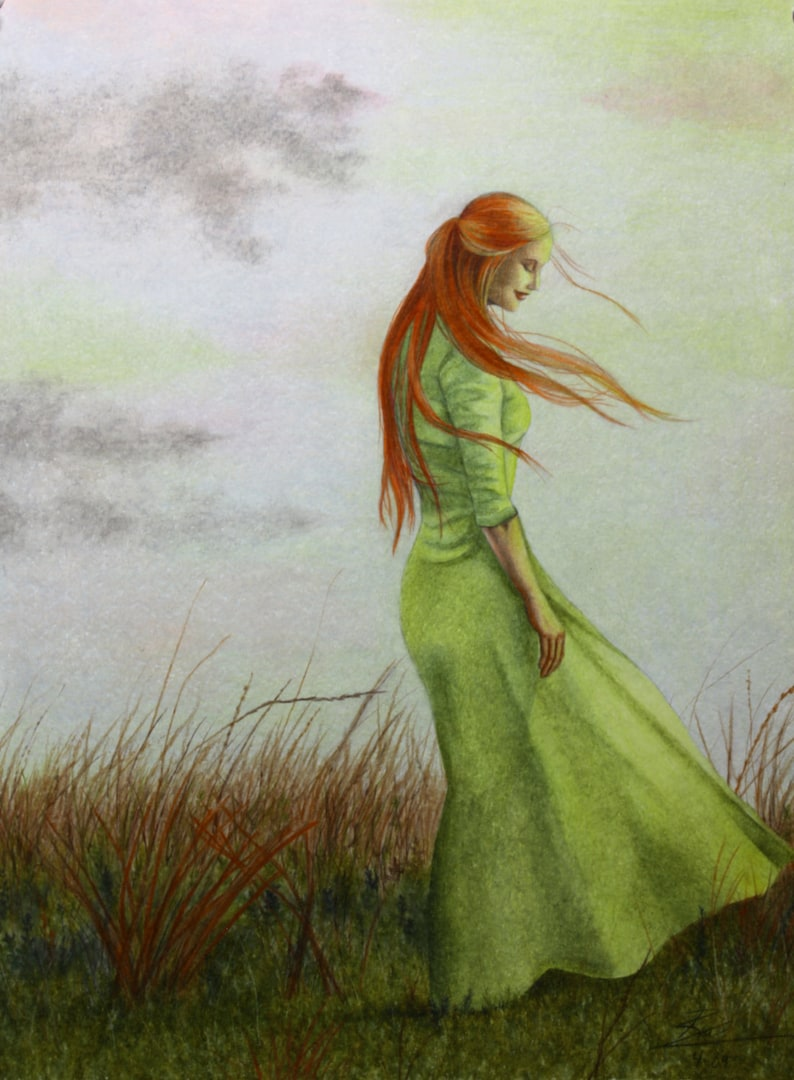 Listening to the Wind art print by Ria Spencer image 0