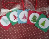 Pretty and Bright Christmas Tree Tags