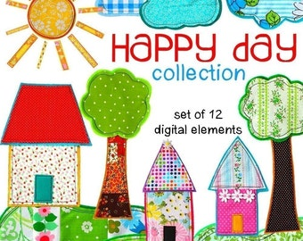 Digital Clip Art -- Happy Day Collection