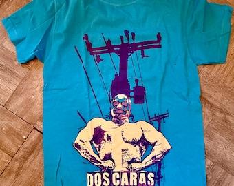 Ser Urbano Mexican Wrestler Lucha Libre Size Small T Shirt, Dos Caras Wrestler Shirt