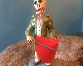 Mexican Matador Day of the Dead Figurine, Bullfighter Dia de los Metros
