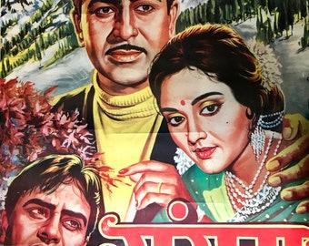 Raj Kapoor Sangam Laminated Vintage Bollywood Movie Poster