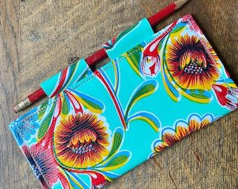 Love Shine Floral Oil Cloth Checkbook Cover