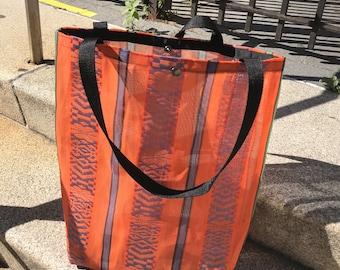 Love Shine Large Mexican Mesh Orange Market Bag, Tote bag, Mercado Bag, Beach Bag