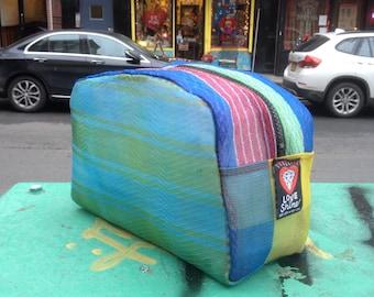 Love Shine Patchwork Mesh Dopp kit, Toiletry Bag, Cosmetic Case,Travel Bag
