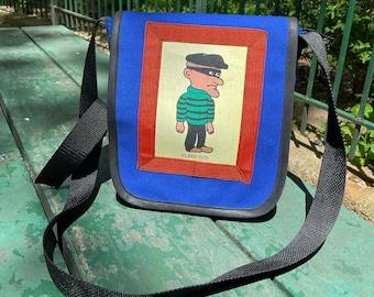 El Bad Guy Canvas Messenger bag,  Crossbody Day bag, Mens Courier Bag, Shoulder Bag