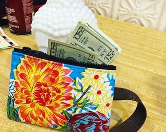 Love Shine Oil Cloth Cellphone Case, Wristlet, Wallet, Clutch, Cosmetic Case