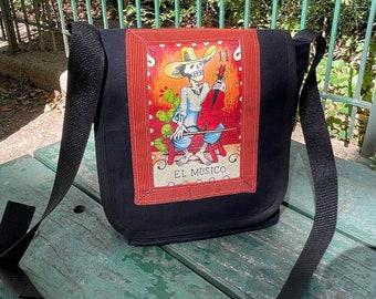 El Musico Loteria Musician Day Bag, Messenger Bag, Courier Bag