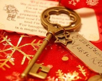 Santa's Magic Key - Hand Stamped Magical Key - Children's Christmas Gift - Stocking Stuffer - Free UK Postage