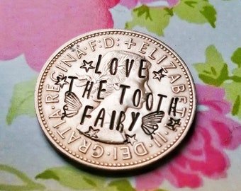 Tooth Fairy Coin - Hand Stamped UK Coin - First Tooth Keepsake - Magic Penny Gift - Personalisation Available - Free UK Postage