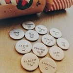 Cracker Tokens - Hand Stamped Tokens - Christmas Cracker Fillers - Personalisation Available - Free UK Postage
