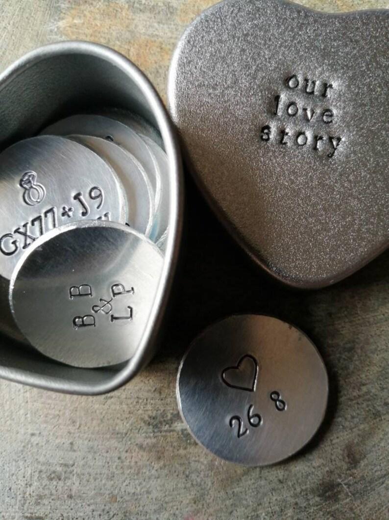 Personalised Story Token Tins  Story So Far Tokens  Keepsake image 0