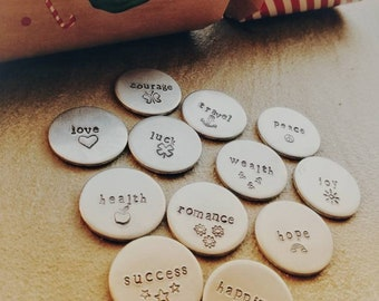 Cracker Tokens - Hand Stamped Tokens - Cracker Fillers - Personalisation Available - Free UK Postage