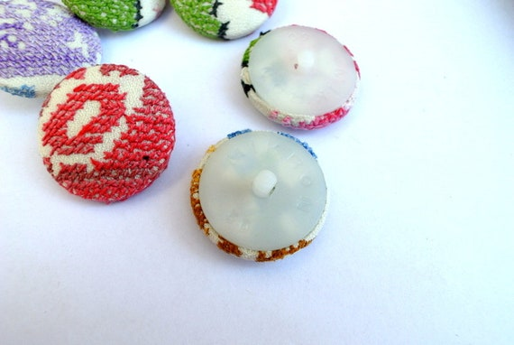 colorful blue and silver color designed art button with trims 32mm Handmade painted button