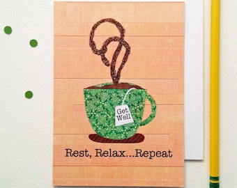 Rest, Relax Repeat Greeting Card