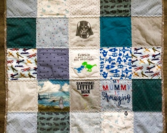 Baby Clothes Quilt Etsy
