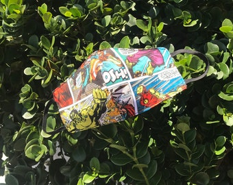Marvel comic print face cover / face mask