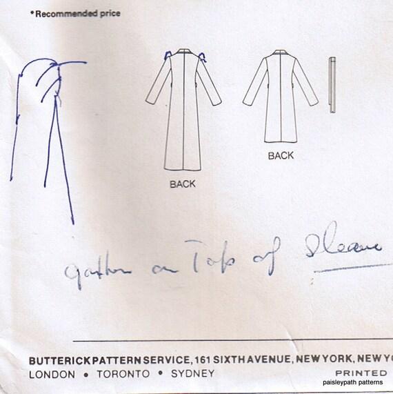 80s costura patrón abrigo toga en telas tejidas Butterick 3910 | Etsy