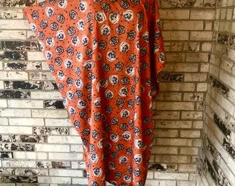 Plus Size Cotton Caftan Pumpkin Design